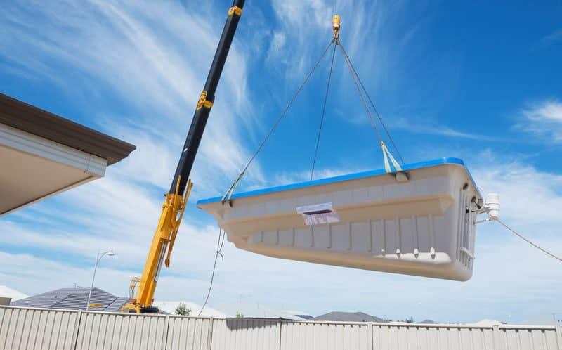 fiberglass pool crane